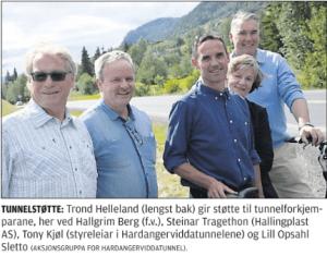 Tunnelstøtte Avisen Hallingdølen