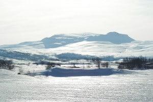 Nedfarten og skitrekk planlegges her. Foto: Eidfjord Resort