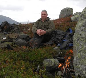 Tor Egil Buøen på en av mange jaktturer