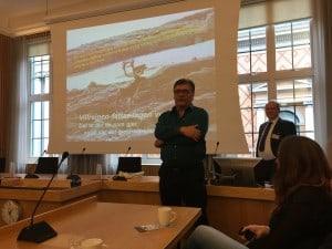 Ordfører Petter Rukke talte for lang tunnel under Rv.7 Hardangervidda - både av hensyn til bilister og villrein.